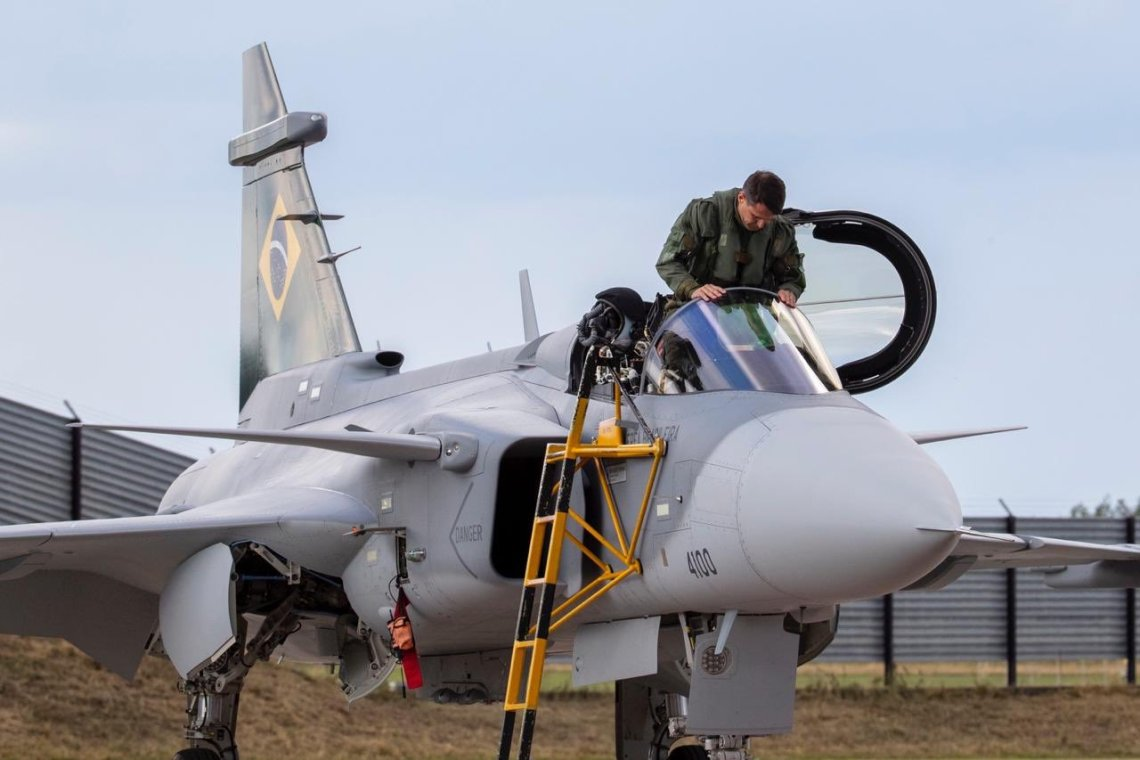 Brazilian Air Force Saab Gripen E fighter