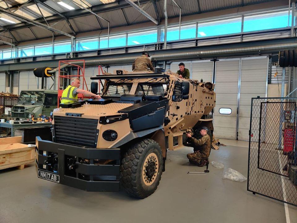 British Army 3 PARA Upgrades its Foxhound Armoured Vehicles