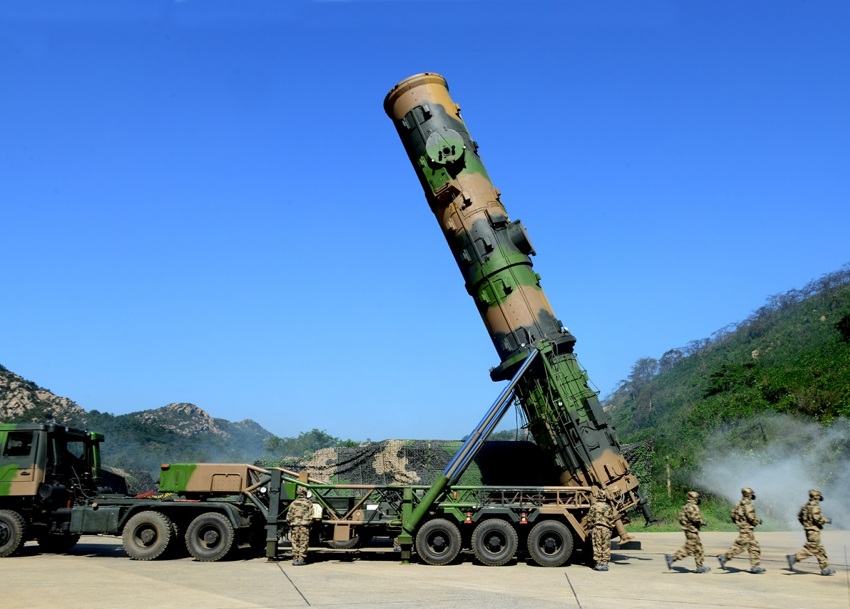 Chinese People's Liberation Army Rocket Force Dong-Feng 21 DF-21 Medium-Range Ballistic Missile