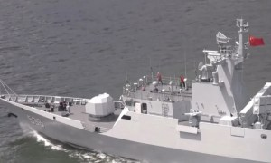 Hong Kong-based Corvette Huizhou Conducts Live Firing Exercise in South China Sea
