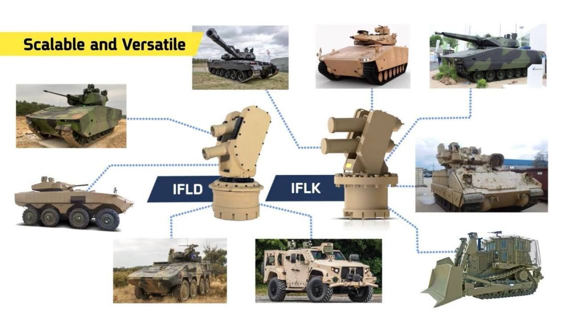Elbit Systems Iron Fist hard-kill active protection system (APS)