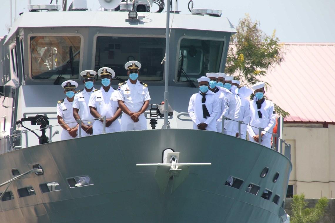 Dominican Navy Defiant Near Coastal Patrol Vessel (NCPV)