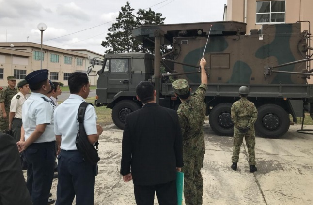 Photo taken during an inspection of a Japan Self Defense Force site in July 2018 in Tokyo, Japan with the PAF Technical Working Group for the Air Surveillance Radar System (Horizon 2) Acquisition Project