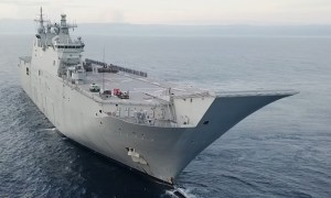 RAN HMAS Canberra Returns to Australia