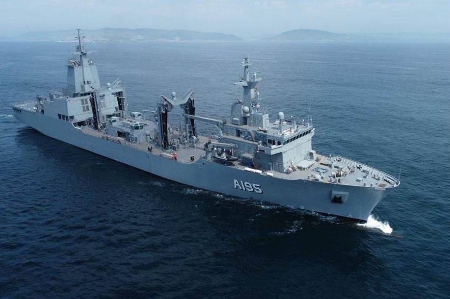 Royal Australian Navy New Auxiliary Oiler Replenishment Ship Completes Sea Trials