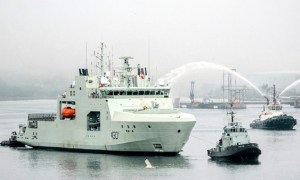 Royal Canadian Navy Receives HMCS Harry DeWolf Arctic and Offshore Patrol Ship