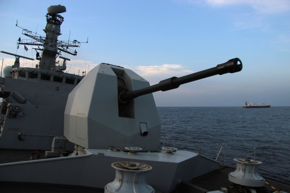 Royal Navy HMS Montrose Patrolling the IRTC for Maritime Security