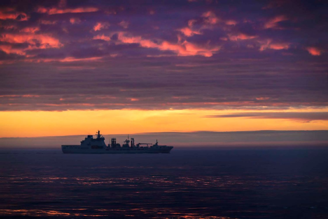 RFA Tideforce during work with NATO