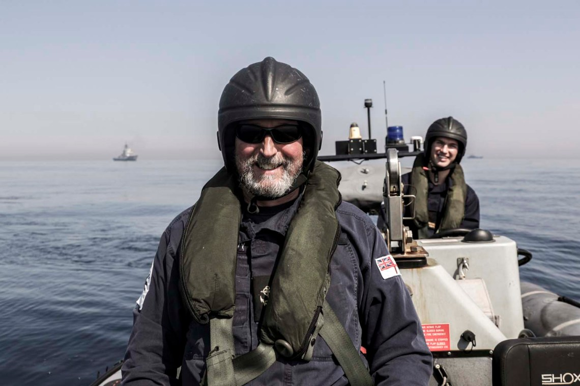Sailors from HMS Mersey during NATO operations