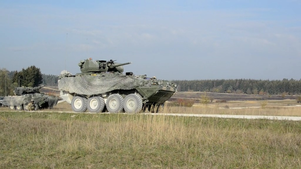 U.S Army 2nd Cavalry Regiment (2CR) 30mm Stryker Infantry Carrier Vehicles - Dragoon (ICV-D)