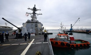 US Navy USS Pinckney Arrives in Manta, Ecuador