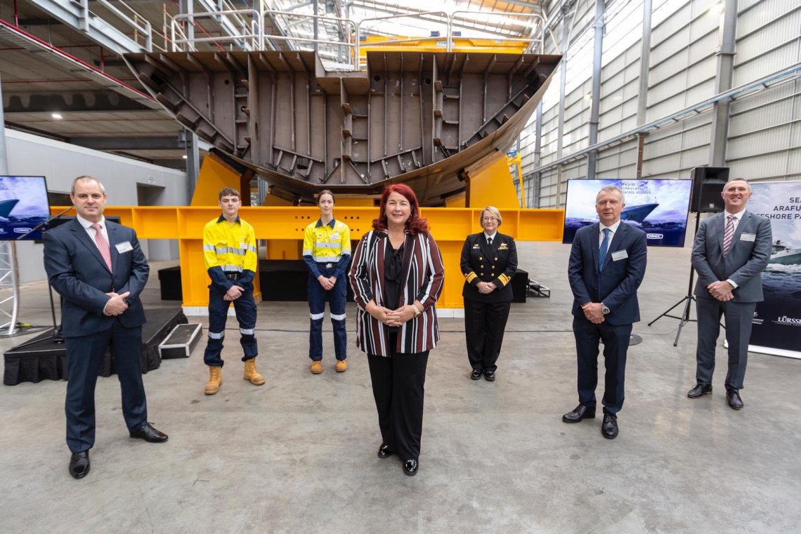 Keels Laid for Third Royal Australian Navy Arafura-class Offshore Patrol Vessel (OPV)