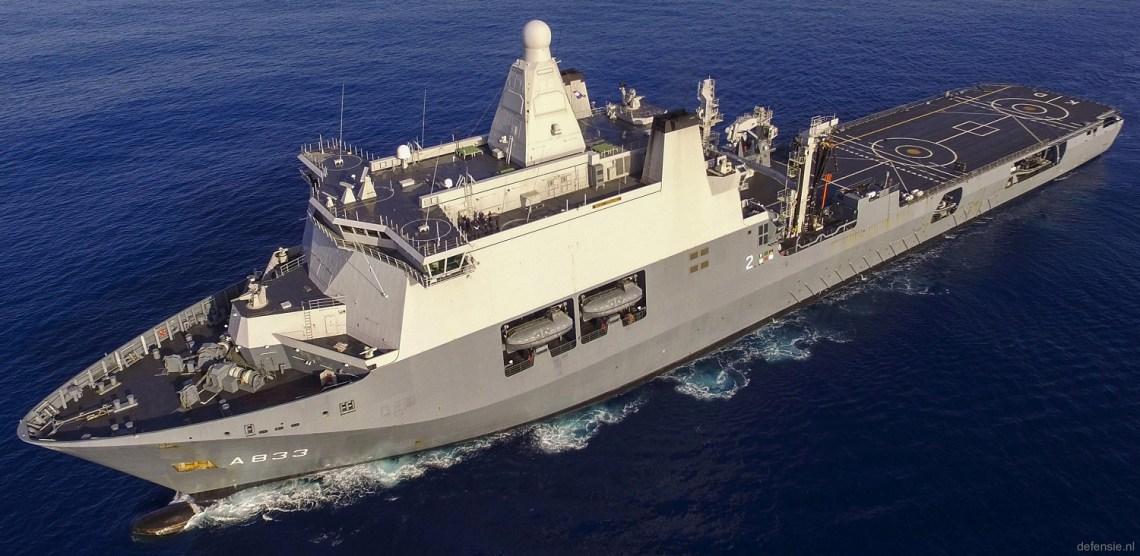Royal Netherlands Navy HNLMS Karel Doorman Multi-function Support Ship