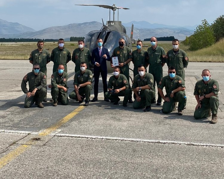 Montenegro Air Force Bell 505 Helicopter