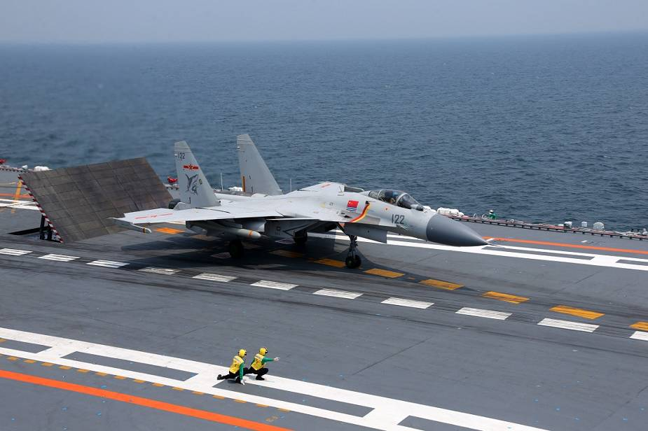 Chinese People's Liberation Army Navy J-15 Fighter Carrier-based multirole fighter