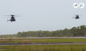 RAIDER and DEFIANT Military Helicopters Formation Flight