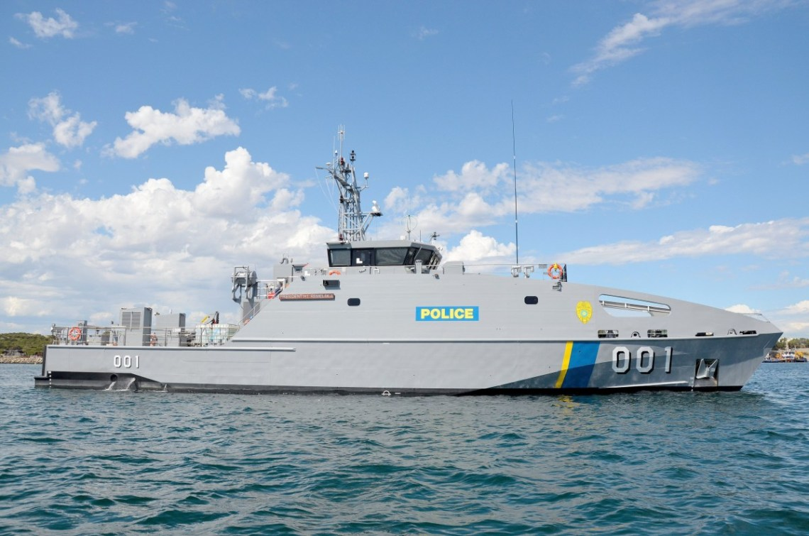 The PSS President Hi.I Remeliik II is a 39.5 metre Guardian Class Patrol Boat, designed and constructed by Austal Australia. (Image: Austal)