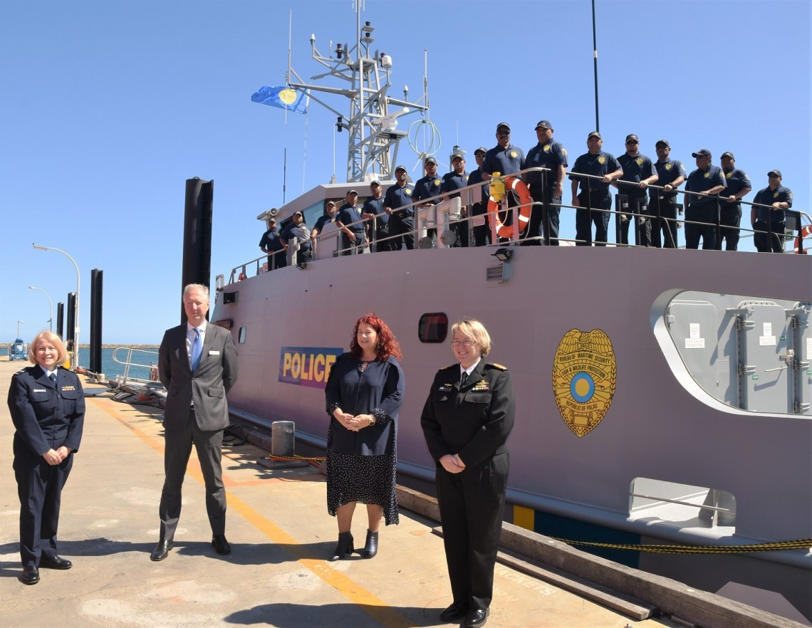Republic of Palau Receives Austal Guardian-Class Patrol Boat