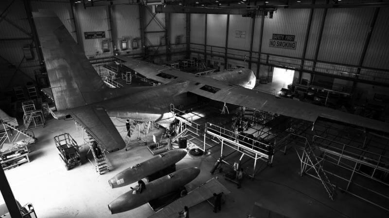 C130 Hercules under maintenance in AMMROC MRO Facility