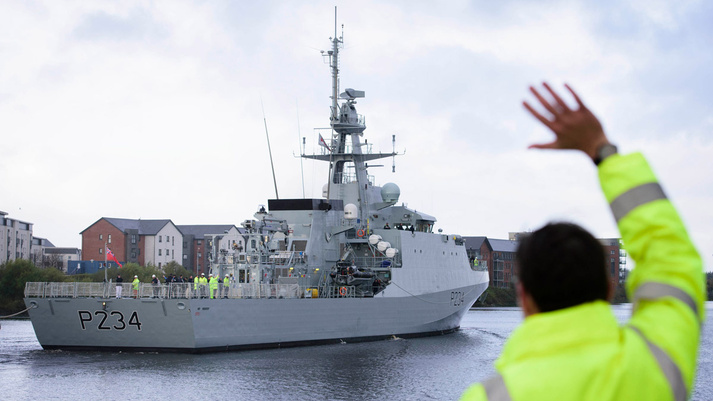 Final Royal Navy River Class Batch 2 OPV Departs Glasgow for Her New Home in Portsmouth