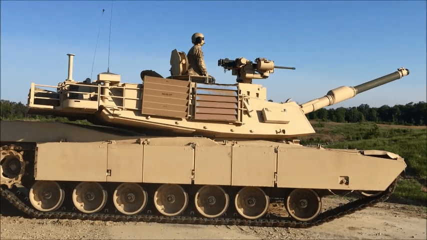U.S. Army M1V3 Abrams Main Battle Tank with PROTECTOR Low Profile