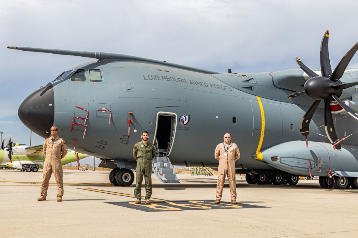 Luxembourg Armed Forces Airbus A400M Military Transport Aircraft