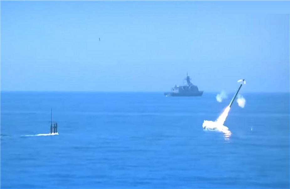 Republic of Korea Navy Submarine Conducts Test-Launch Haeseong III Cruise Missile