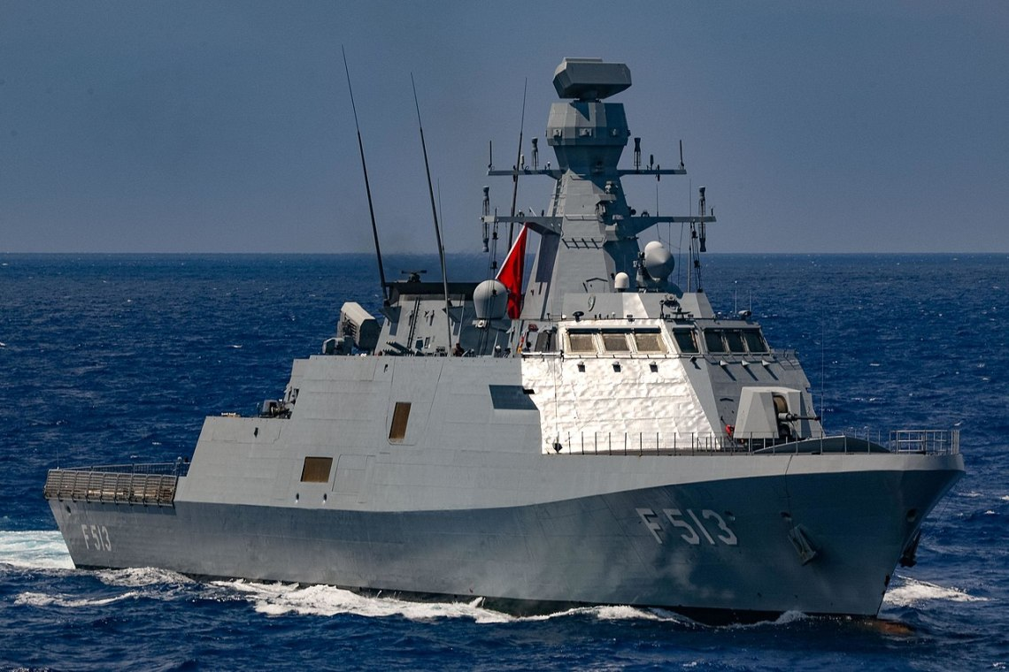 TCG Burgazada (F-513) is an Ada-class ASW corvette of the Turkish Navy, built as the third combat ship of the MILGEM project.