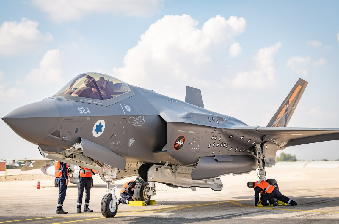 Israeli Air Force Flight Testing Center Receives First Experimental F-35I Adir