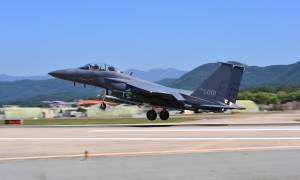 ROKAF F-15K Slam Eagle armed with KEPD 350