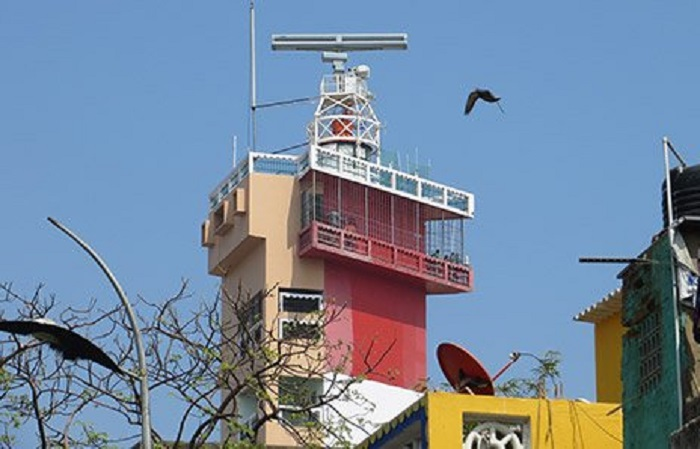 Terma radar installed on Chennai lighthouse as part of Phase I in 2012