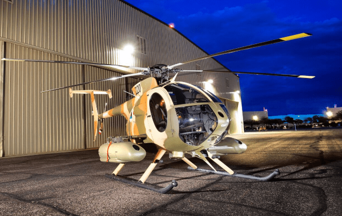 Afghan Air Force MD 530F Cayuse Warrior Helicopters