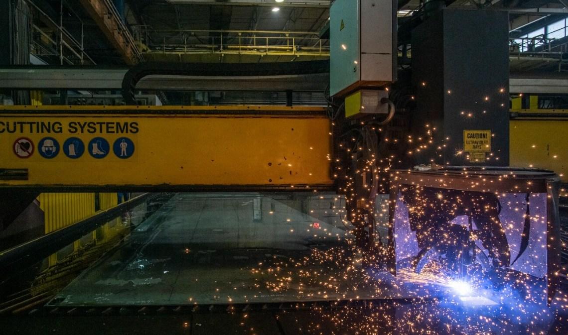 Damen Cuts First Steel on Royal Netherlands Navy's Combat Support Ship (CSS) Den Helder