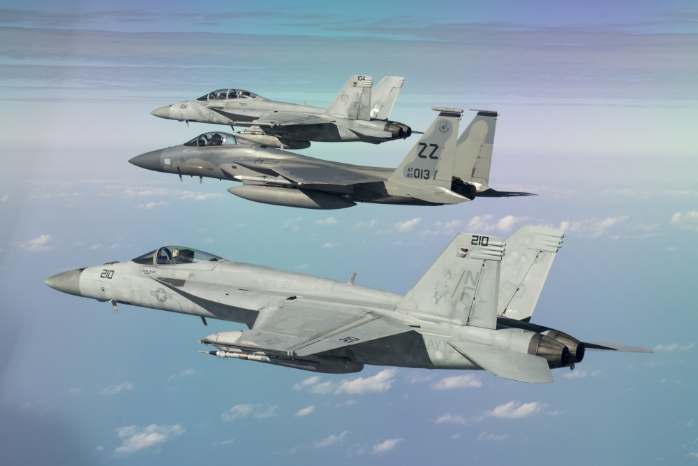 F-15 and F-18