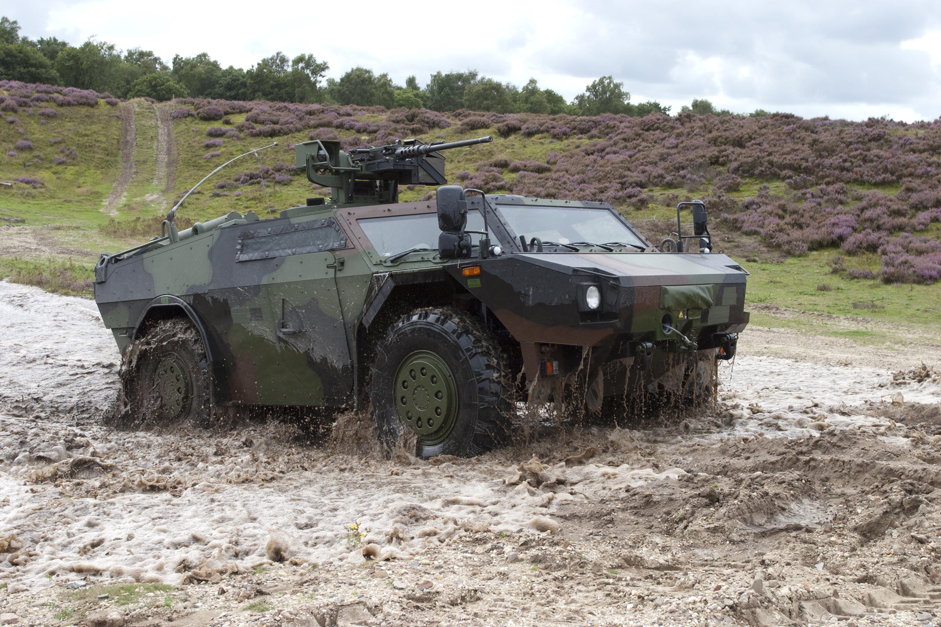 Fennek Armed Reconnaissance Vehicles