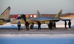 First Serially Produced Sukhoi Su-57 Stealth Fighter Jet Testing Kinzhal Hypersonic Missiles