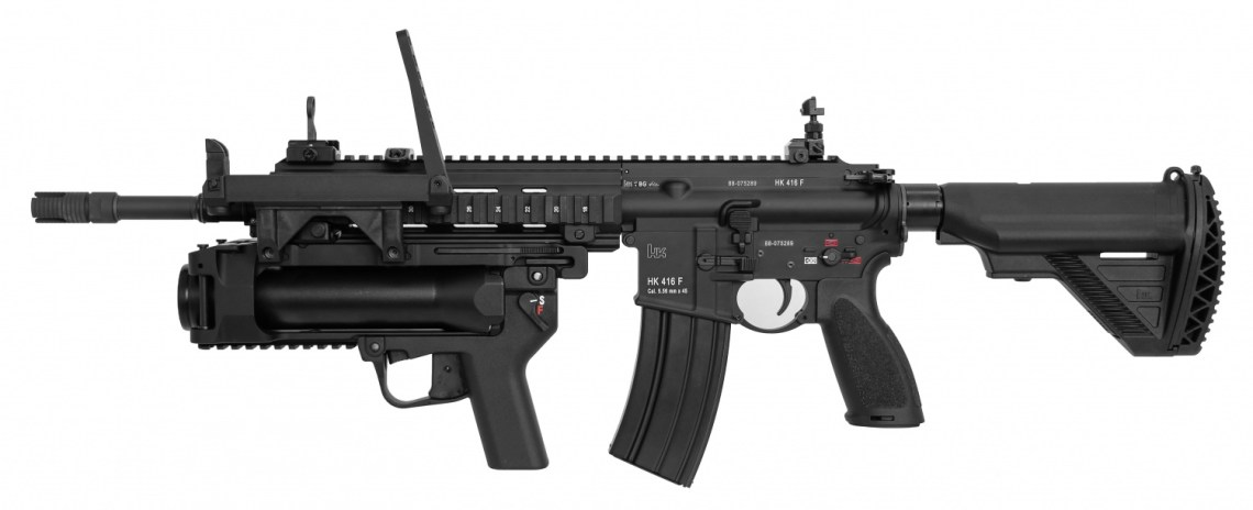 French Army HK416F 5.56mm Assault Rifles