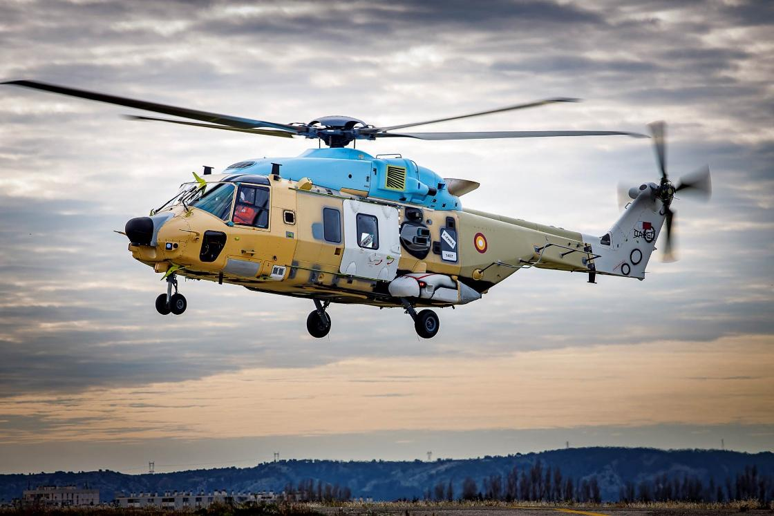 Qatar Emiri Air Force's NH90 NFH Helicopter Conduct First Flights