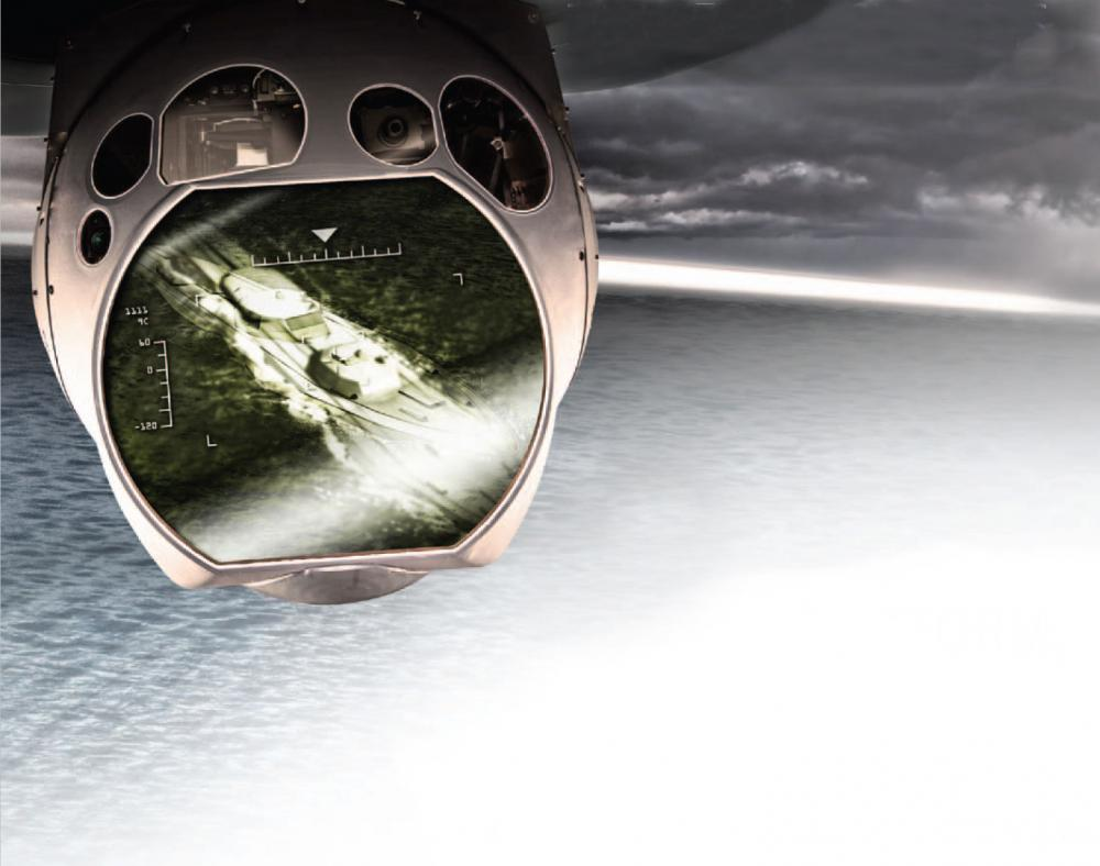 The Multi-Spectral Targeting System is a turreted electro-optical and infrared sensor used in maritime and overland intelligence, surveillance and reconnaissance missions.