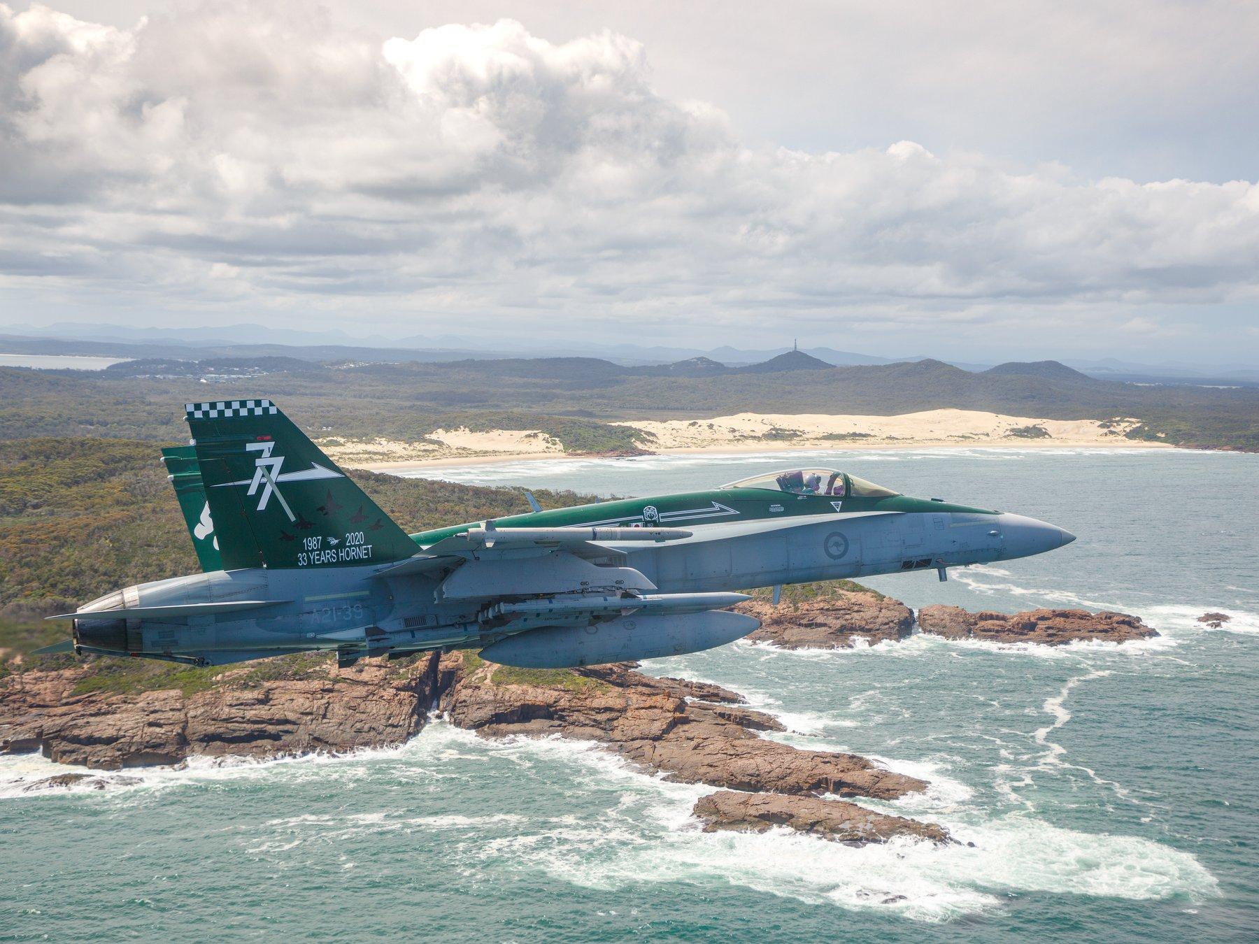 Royal Australian Air Force No. 77 Squadron Farewells F/A-18A/B Hornet