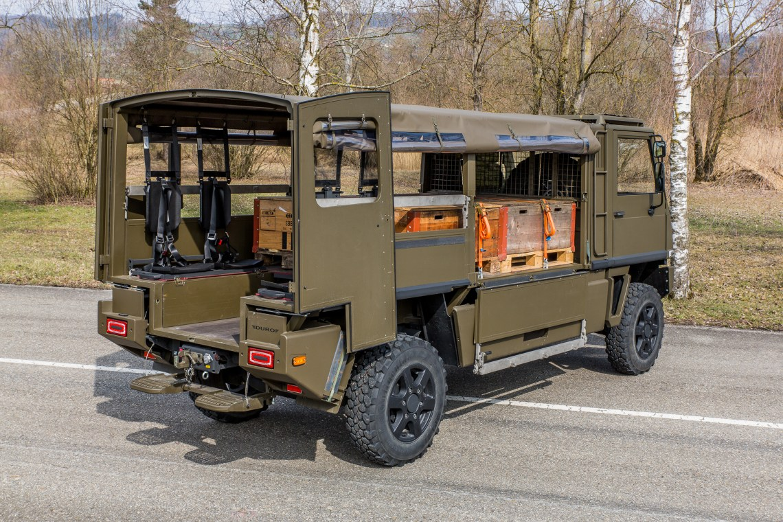 Swiss Army to Receive 219 Re-Engined Duro 4x4s with F1C Turbo-Diesel Engines