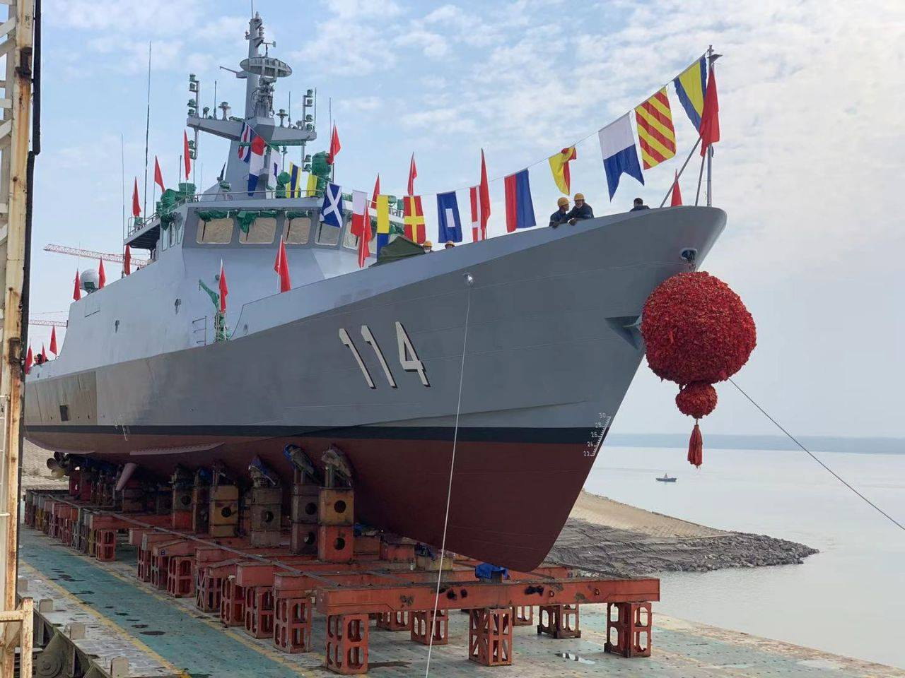Wuchang Shipbuilding Industry Group Launches 4th Littoral Mission Ship for Royal Malaysian Navy