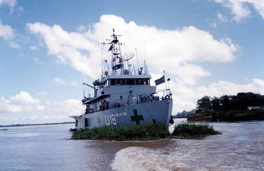 The Brazilian Navy hospital ship Oswaldo Cruz