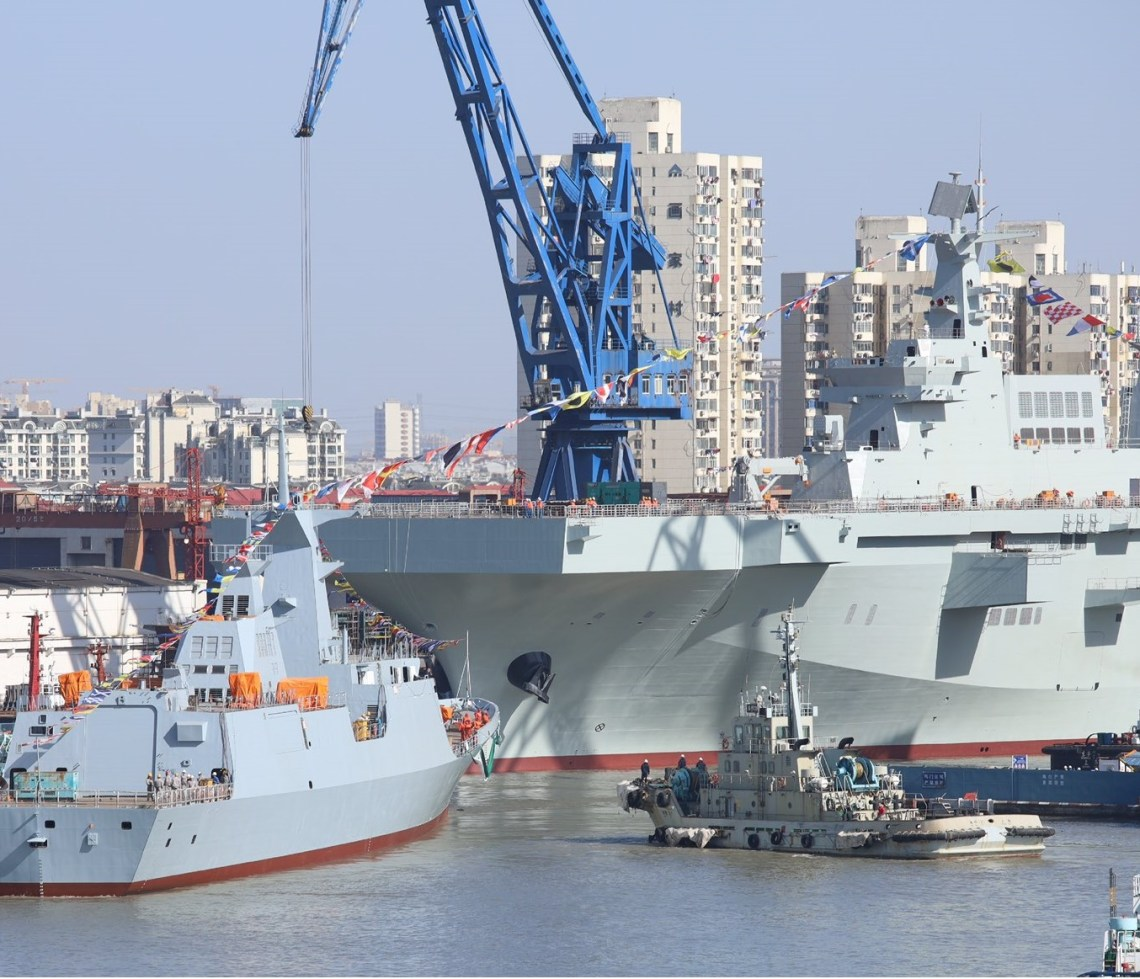 Chinese People's Liberation Army Navy Launches 3rd Type 075 Landing Helicopter Dock