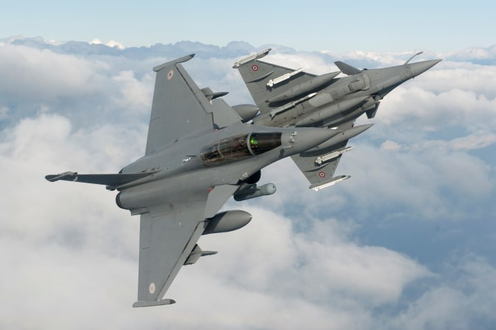 French Air Force Dassault Rafale Multirole Fighter