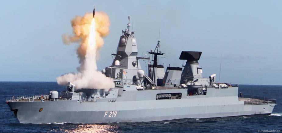 German Navy Sachsen (F219) air-defense frigates