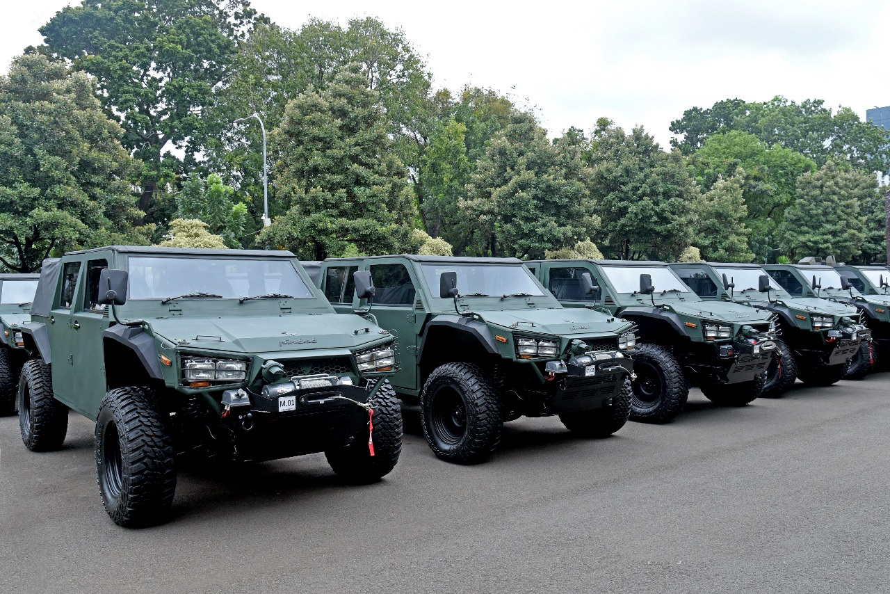Indonesian Army Receives 40 Maung Light Tactical Vehicles