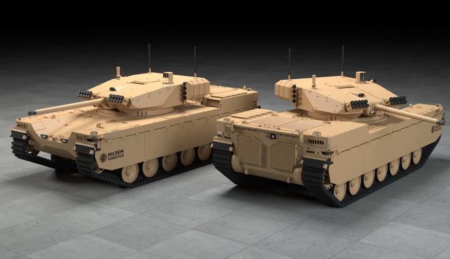 Milrem Robotics Rolls Out New Medium Class Type-X Robotic Combat Vehicle (RCV)