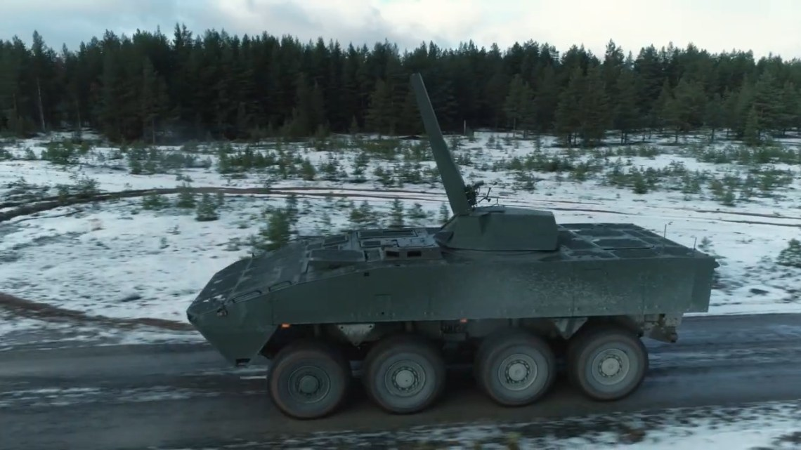 Patria Nemo 120 mm Mortar Turret Demonstrates Capability To Fire on The Move