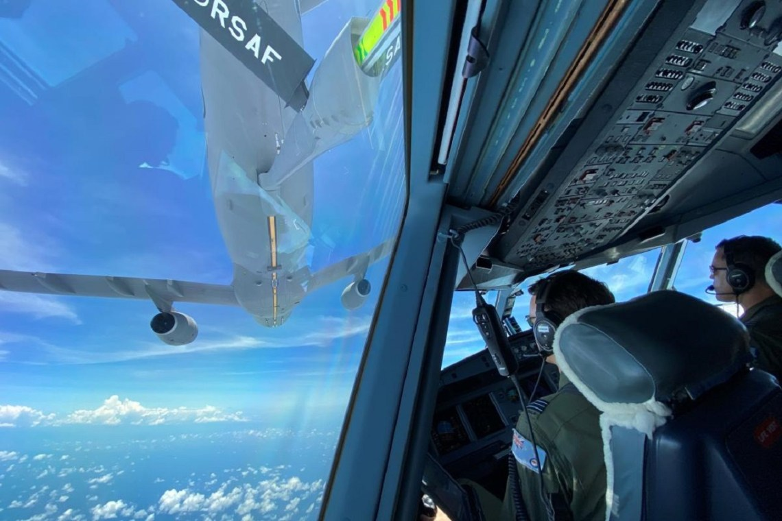 RAAF KC-30A MRTT Conducts Air-to-air Refuelling with RSAF Tanker